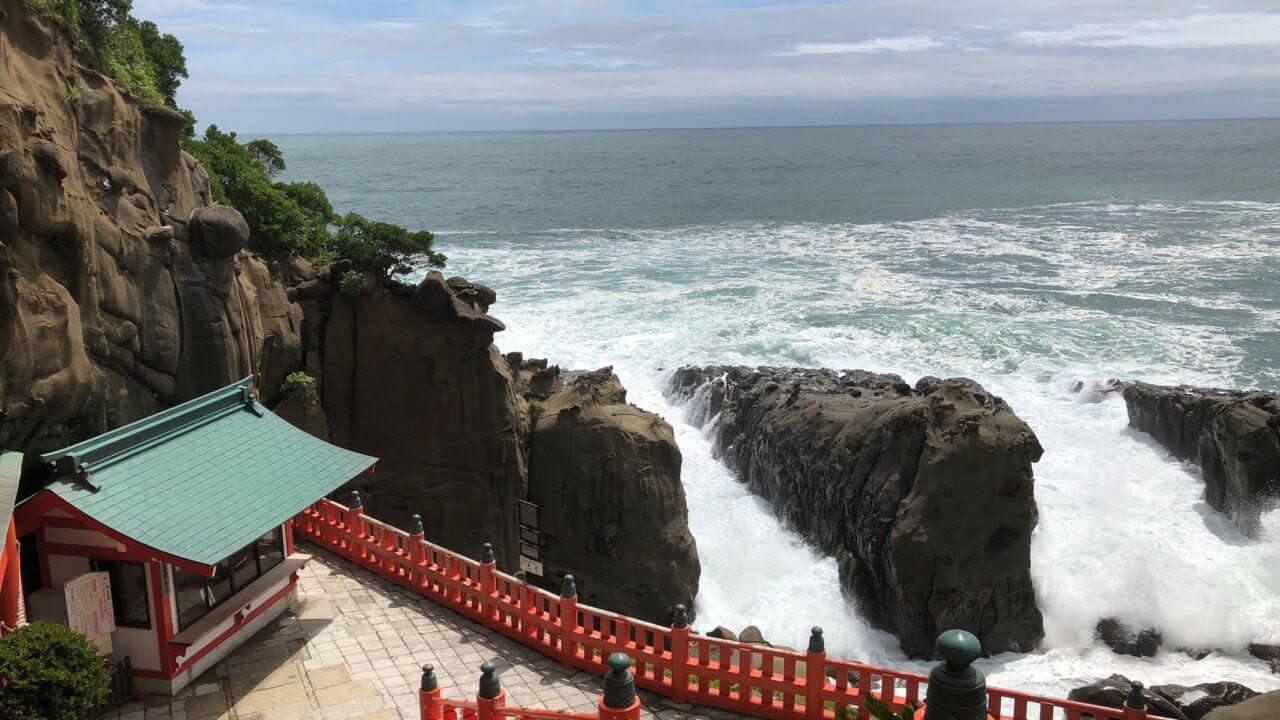 鵜戸神宮見晴らしが良い海