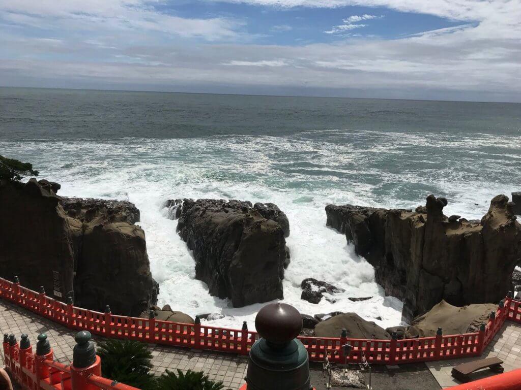 鵜戸神宮海の眺め