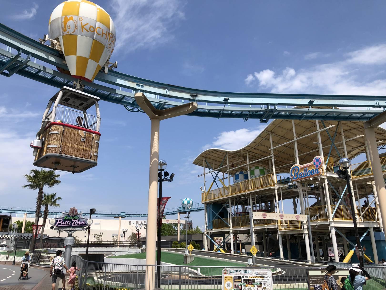 鈴鹿サーキットの気球のアトラクション