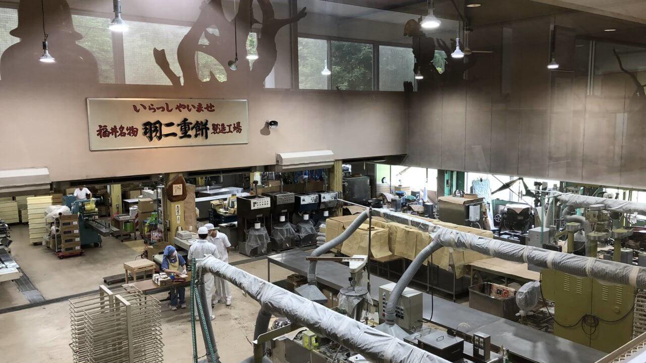 羽二重餅の古里の工場見学