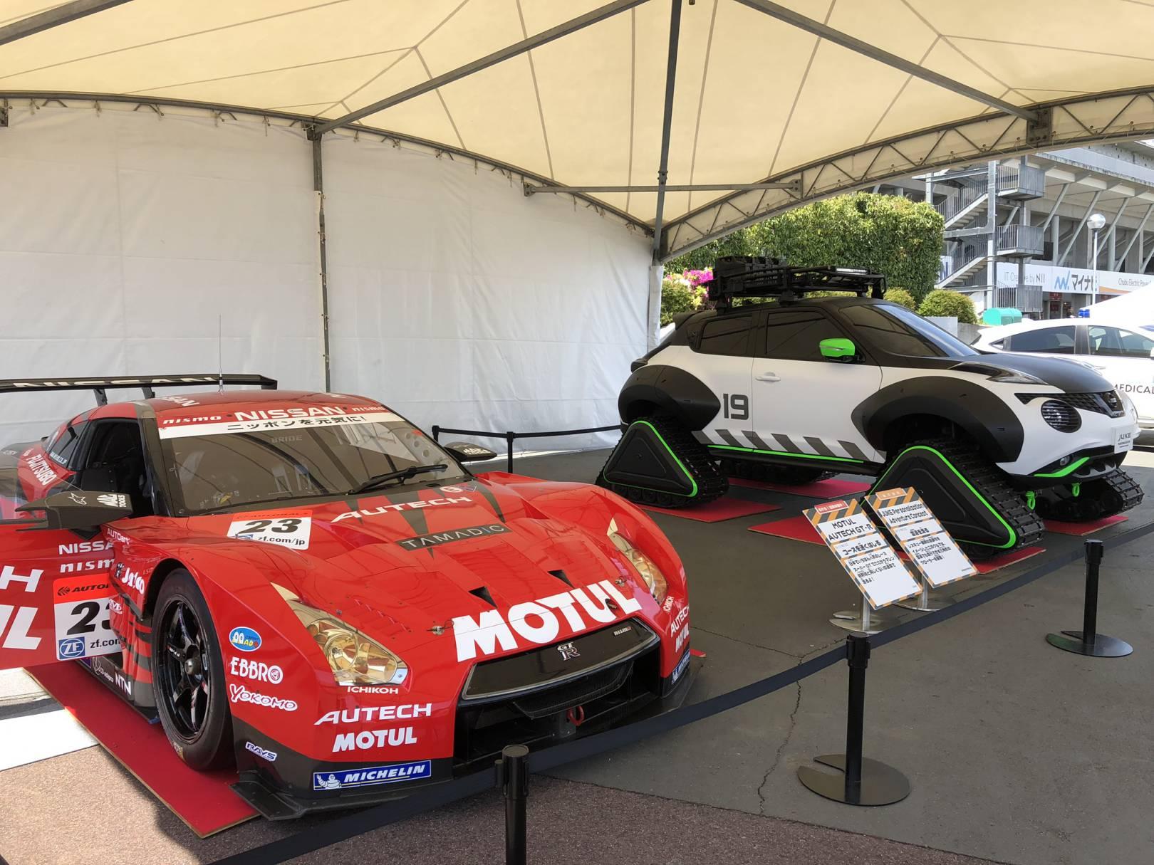 鈴鹿サーキットの実際のレーシングカー