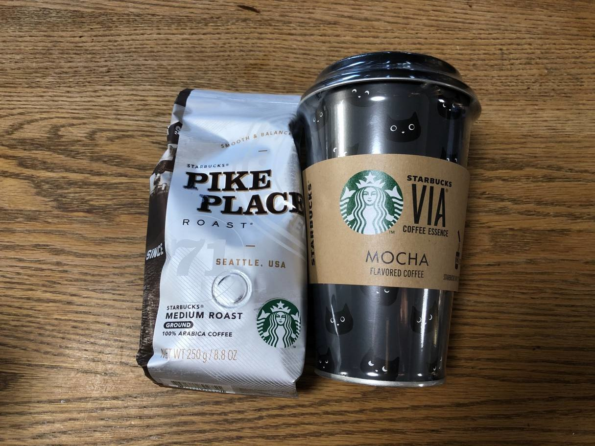 スタバ福袋のコーヒー豆とインスタントコーヒー