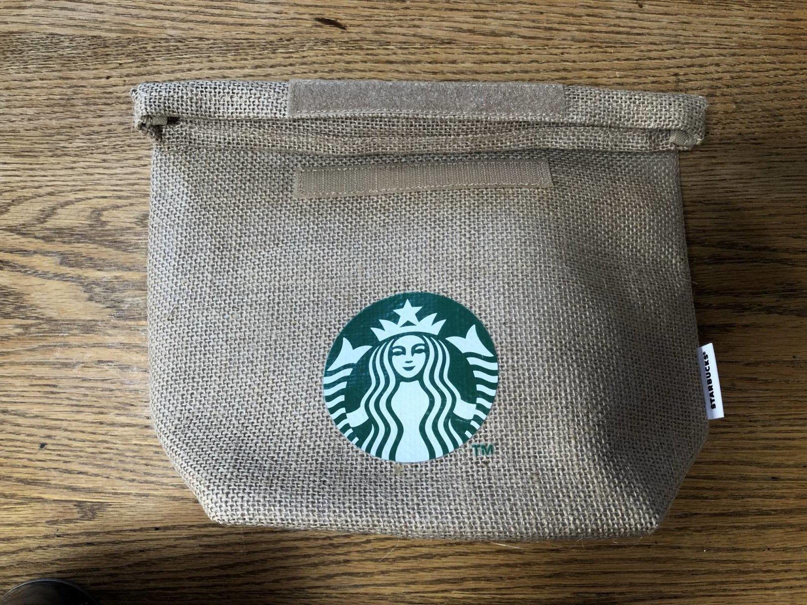 スターバックス福袋の麻の保冷バッグ