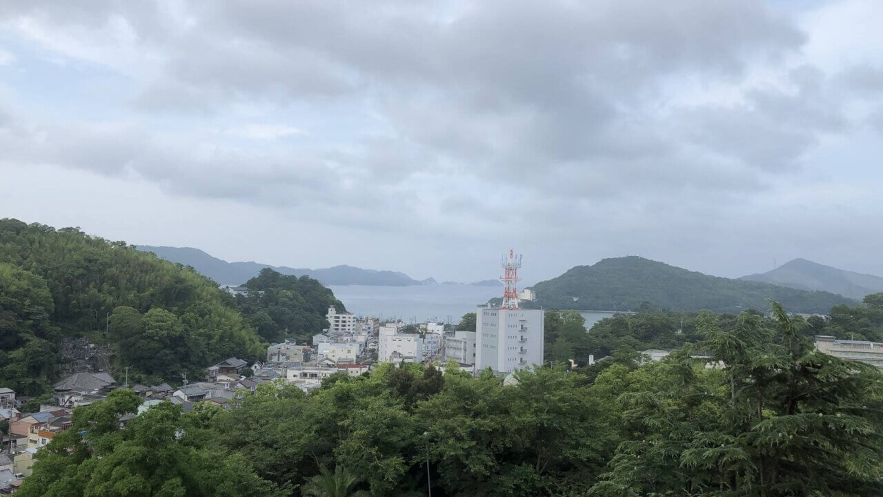 三重県にある旅館扇芳閣のの客室からの展望